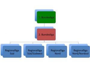 Ligastruktur des DFB in der Saison 1994/1995