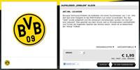 Einfacher Aufkleber im Online-Shop von Borussia Dortmund