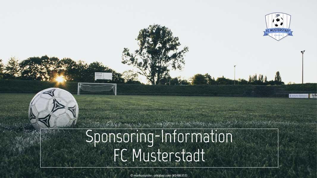 Sponsoren-Präsentation-Muster-Titelfolie
