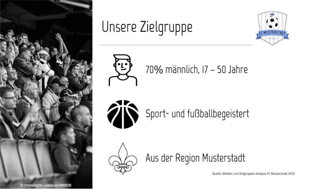 Sponsoren-Präsentation (Muster-Folie) - Zielgruppe.