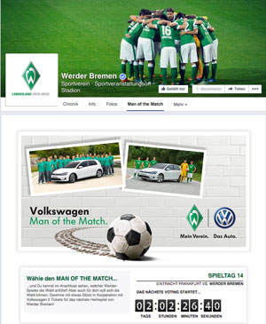 Volkswagen Man of the Match SV Werder Bremen