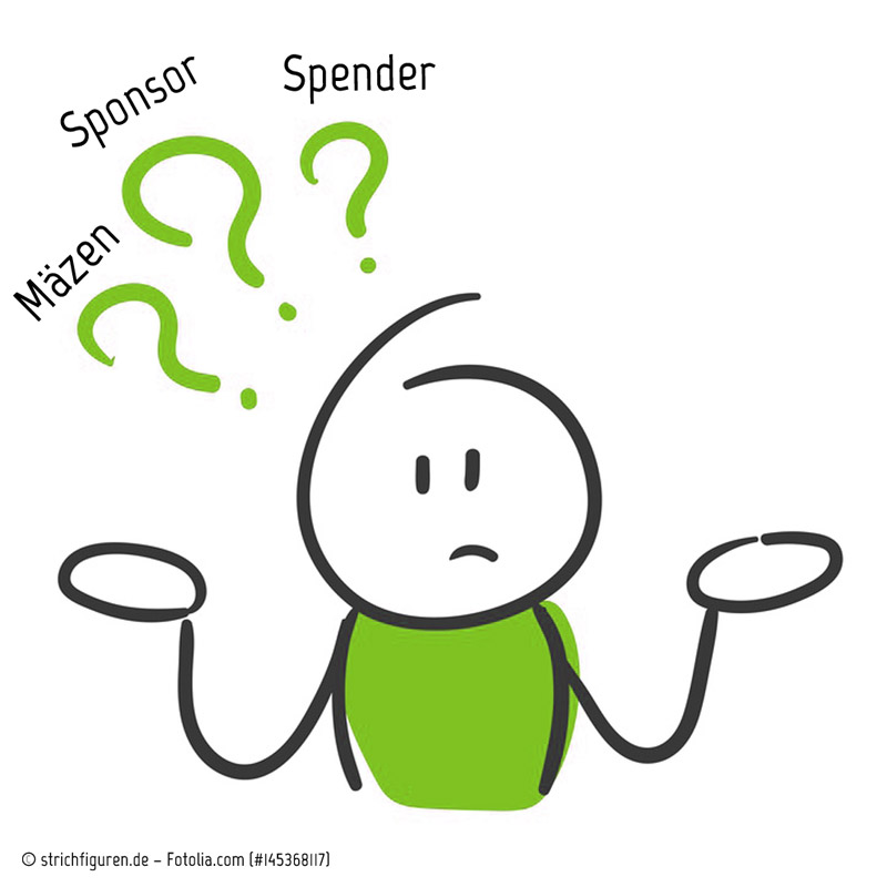 Mäzen, Spender, Sponsor, Sponsoring